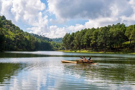 Pang-ung lake in Maehongson, Thailand. photo