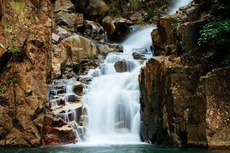 cataract falls: Waterfall at Namtok Phlio National Park in Chanthaburi ,Thailand. Stock Photo