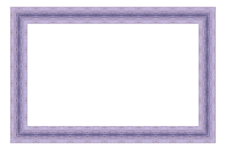 Purple wooden frame isolated on white background.  Foto de archivo