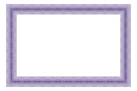 lineas decorativas: Marco de madera púrpura aislado sobre fondo blanco. Foto de archivo
