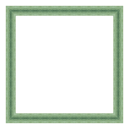Green Wooden Frame Isolated On White Background. Contemporary ...