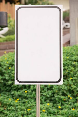 commercial real estate: Horizontal Shot Of Blank Commercial Real Estate Sign