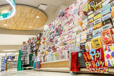 New York February 26 2017 Greeting Cards Isle In A Rite Aid Pharmacy