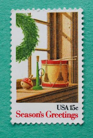 US Seasons Greeting postage stamp.