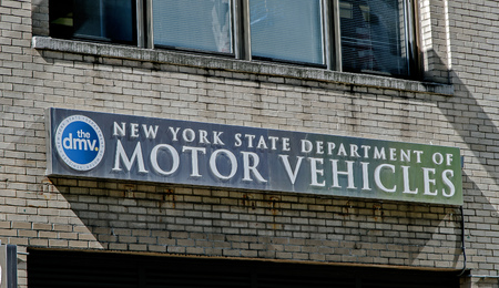 New York, May 08, 2017: The sign over one of the NYS DMV offices in Manhattan. Editorial