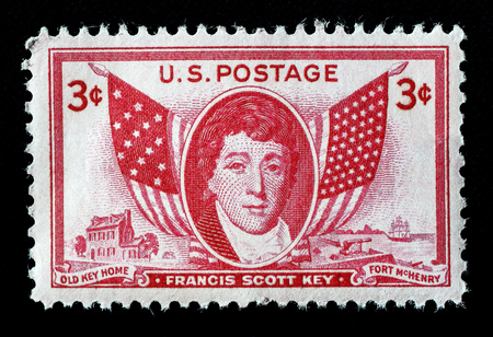 Francis Scott Key US postage stamp.