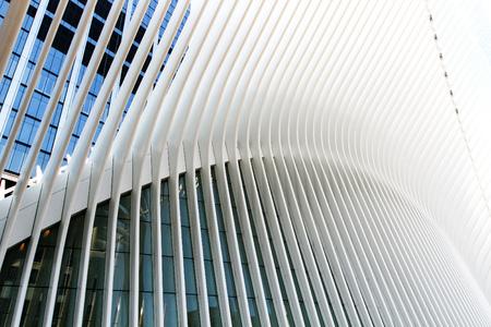 New York, April 28, 2017: View of Oculus - World Trade Center Transportation Hub.