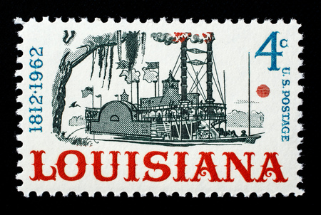 Louisiana Statehood US postage stamp. Sajtókép