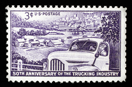 50th anniversary of the trucking industry US postage stamp. Sajtókép