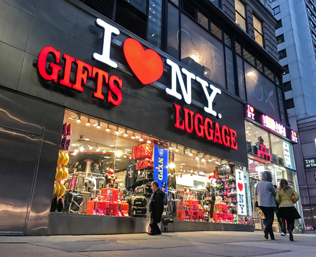 I HEART NY gift shop in NYC.
