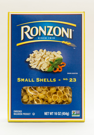 New York, January 30, 2017: A pack of Ronzoni pasta isolated on white background.