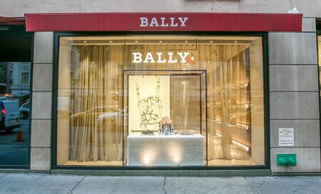 New York, October 15, 2018: Madison Avenue Bally store window.