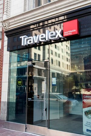 Travelex branch in Boston, Masschusetts.