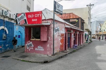 Small bar in the center of Bridgetown, Barbados.