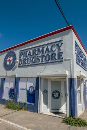 Aruba, 11/28/2019: View of a drug store.