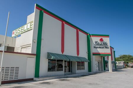 Aruba, 11/28/2019: View of Giselle department store on a sunny day.