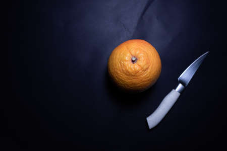 Orange detail with some droplets on it. 版權商用圖片