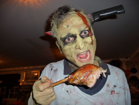 durty: zombie eating Stock Photo