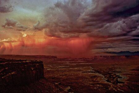 canyonland: Stormy sky at Canyonlands NP