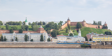 View of the Nizhny Novgorod Kremlin and the Nizhne-Volzhskaya Embankment