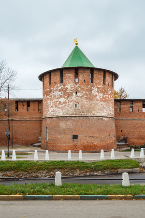 Pantry tower of the Kremlin in Nizhny Novgorod in the autumn