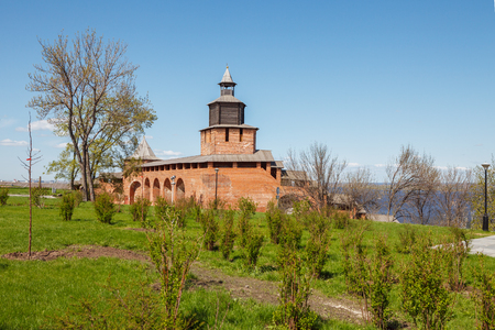 congress center: View of the Clock tower of the Kremlin in Nizhny Novgorod in the spring