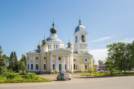Uspensky Cathedral on the square in the city of Myshkin, Yaroslavl Region