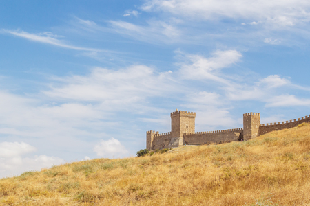 empedrado: Towers Pasquale Judice, Nameless and round Genoese fortress in Sudak, Crimea