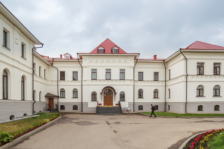 blessed trinity: The educational building of the Gymnasium of the Trinity-Sergius Varnitsky Monastery in the village of Varnitsa, Yaroslavl Region