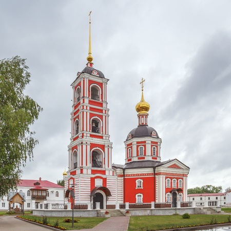 blessed trinity: The Trinity Cathedral of the Life-Giving Trinity-Sergius Varnitsky Monastery in the village of Varnitsa, Yaroslavl Region