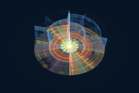 Illustration of data record, database Stock Photo