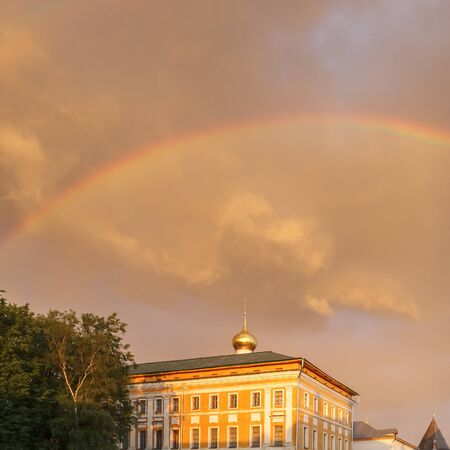 Rainbow over the Metropolitan Charms in the Rostov Kremlin, Yaroslavl Region