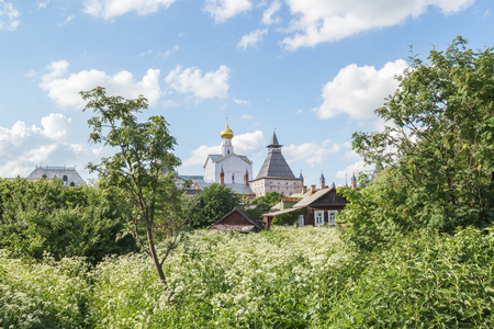 Church of Our Savior Not Made by Hands in the Balcony in the Greenery of Trees in Rostov the Great