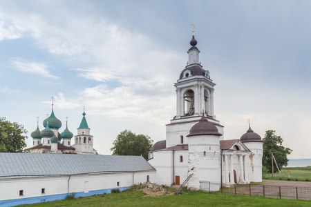 Church of St. Nicholas the Wonderworker with the entrance gate to the Avraamievsky Epiphany Monastery in Rostov Veliky, Yaroslavl Region