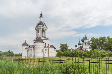 The Church of St. Nicholas the Wonderworker and the Cathedral of the Epiphany at the Abraham Epiphany Monastery in Rostov Veliky, Yaroslavl Region