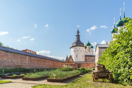 The beds in the Metropolitan Garden in the Rostov Kremlin