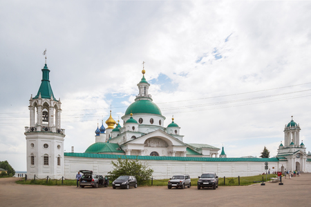 View of the Spaso-Yakovlevsky Dimitriev Monastery in Rostov the Great Фото со стока