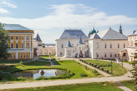 View of the Red Chamber and the Metropolitans mansion in the Rostov Kremlin, Yaroslavl Region