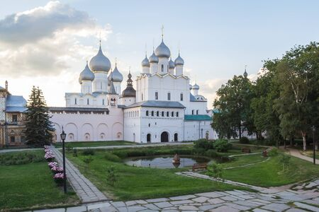 View of the Church of the Resurrection and the Assumption in the Kremlin of Rostov the Great