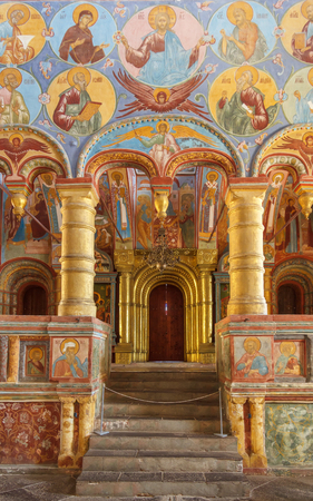 Paintings in the church in the Kremlin of Rostov the Great Фото со стока