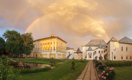 Rainbow over the Metropolitan Charms and the Red Chamber in the Rostov Kremlin, Yaroslavl Region