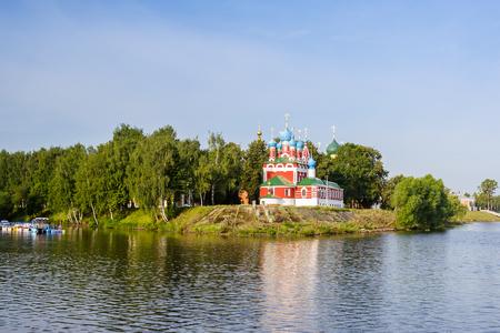 Church of Dimitri Tsarevich with reflection in Uglich, Yaroslavl Region