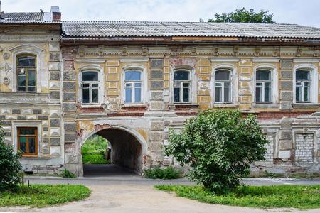 spasskaya: House with an arch on Spasskaya Street in Uglich Editorial