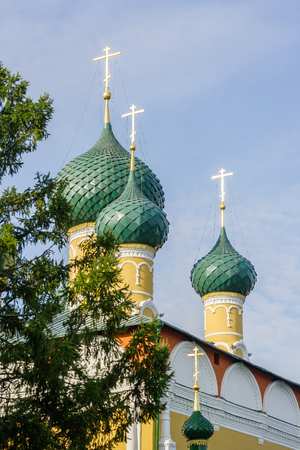 Domes of the Cathedral of the Transfiguration in Uglich