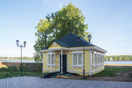 Wooden carved house in the Kremlin of Uglich, Yaroslavl Region