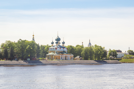 View of the Transfiguration Cathedral in Uglich from the river