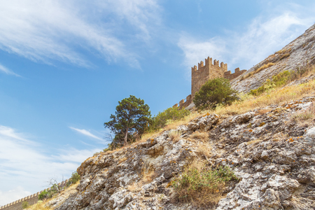 Anonymous citadel in the Sudak Genoese fortress in the Crimea