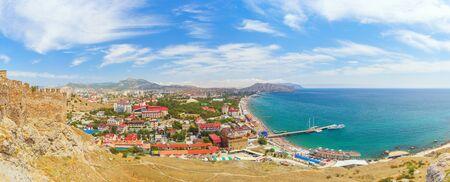 sudak: View of the Black Sea coast in Sudak, Crimea
