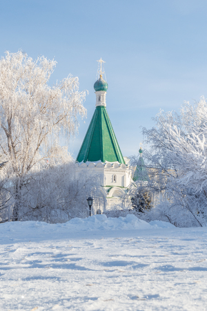 The Cathedral of Michael the Archangel of the Winter in the Nizhny Novgorod Kremlin
