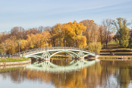 Autumn view of Tsaritsyno park in Moscow